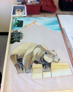 Bear Stained Glass Window