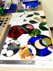 Suzanne's Stained Glass Panel